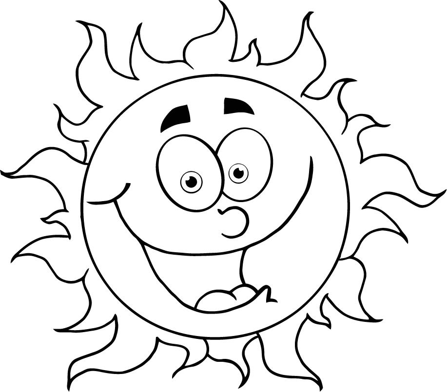 917x805 Colouring In Cartoon Sun For Kids