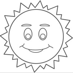 236x236 Printable Cartoon Character Smiling Sun Coloring Pages