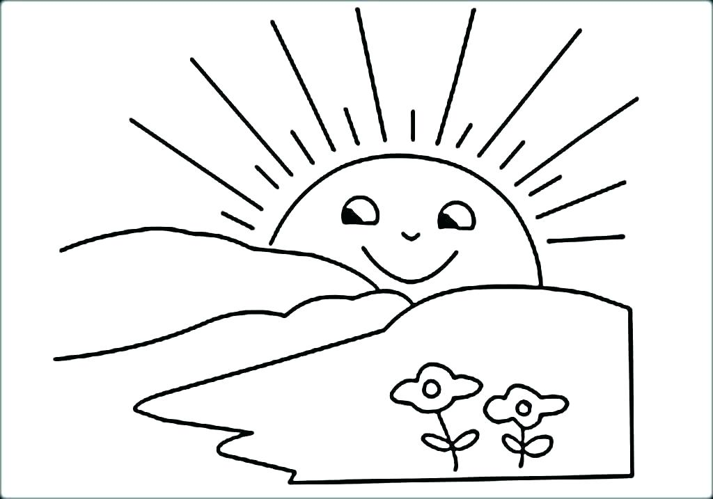 Sun Coloring Pages For Preschoolers At GetDrawings.com