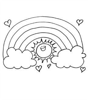 290x327 Rainbow Sun Colouring Page Rock Crafts, Crafts And Crafty