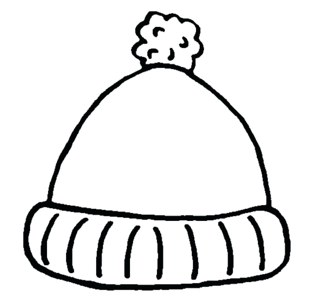 1024x971 Simple Winter Hat Coloring Pages Sun Throughout Page Mitten