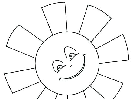 440x330 Sun Coloring Page Big Sunflower Coloring Page Pages Sun Together