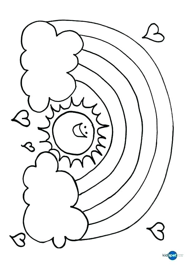 600x850 Coloring Pages Of Clouds Rainbows Coloring Pages Rainbow Coloring
