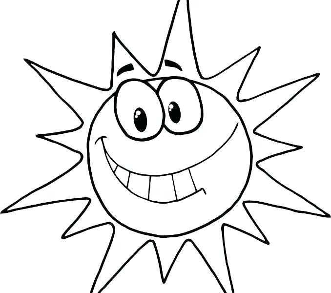 678x600 Sun Coloring Page