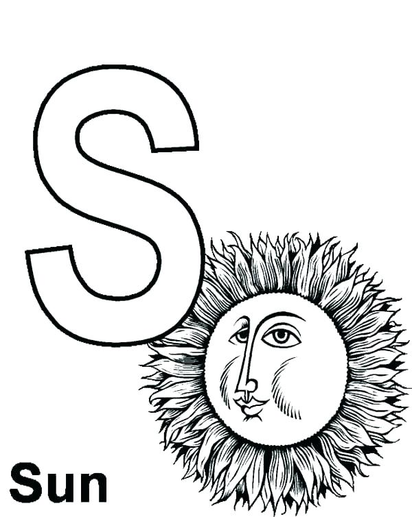600x754 Letter Color Pages Letter S Coloring Page S Coloring Pages