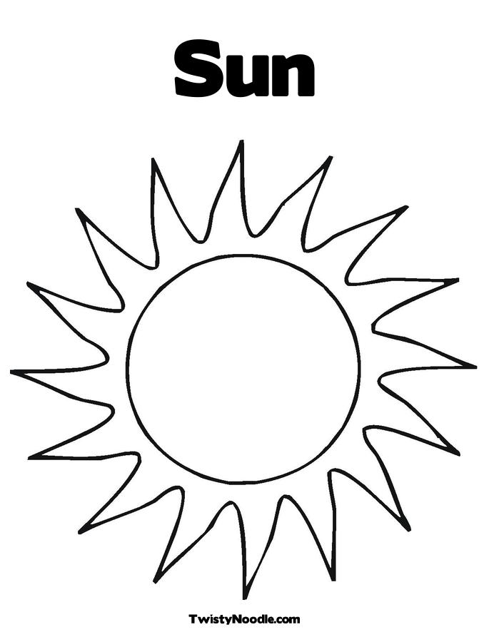 Sun Coloring Pages For Preschoolers At Getdrawings Com Free For