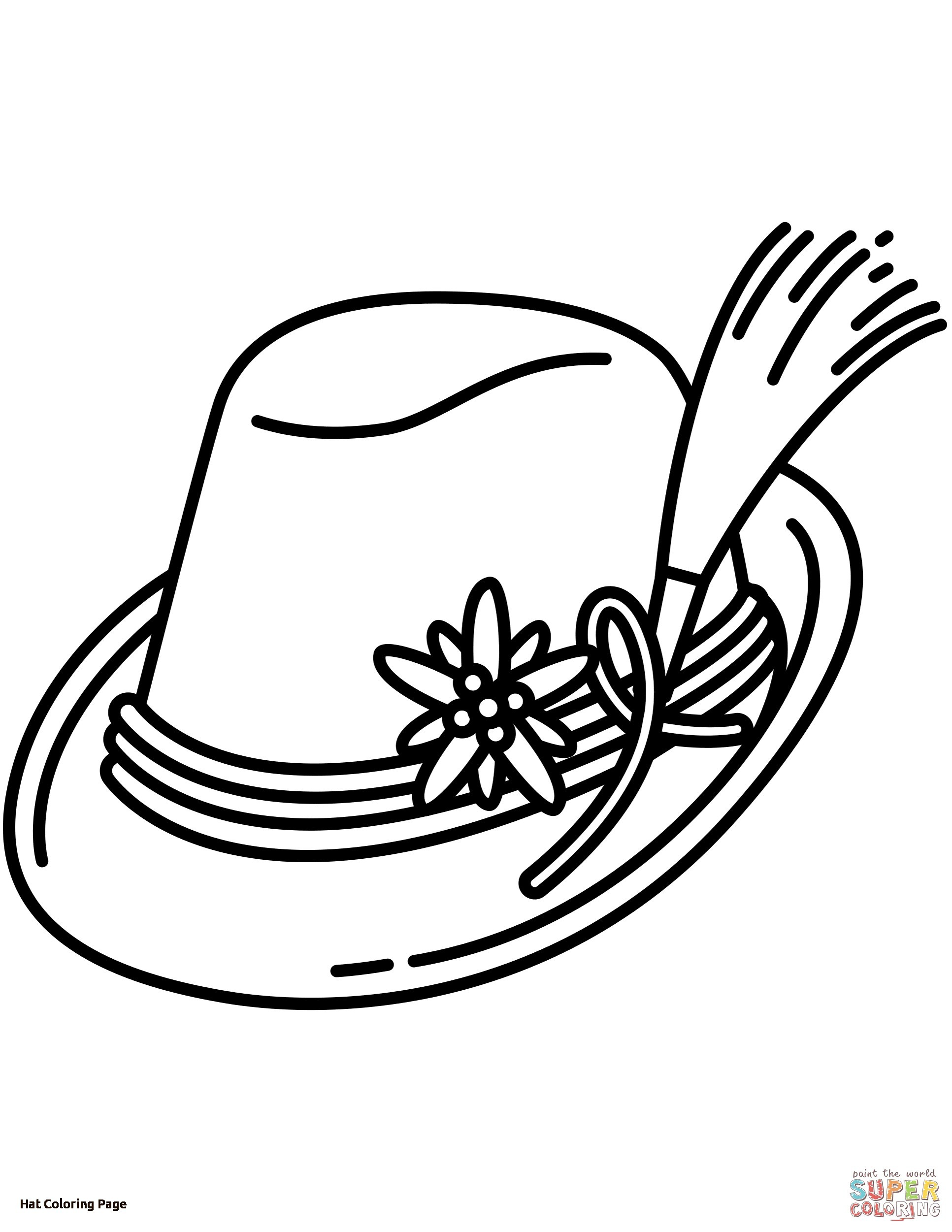 1933x2502 Fall Hat Coloring Page For Girls Unique Sun Hat Coloring Pages
