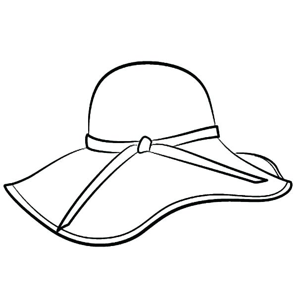 600x600 Hat For Colouring Floppy Hat Coloring Pages Coloring Sun Coloring
