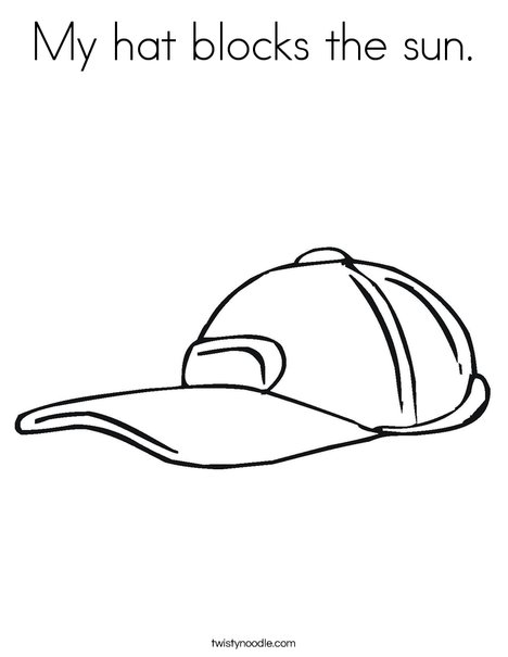 468x605 My Hat Blocks The Sun Coloring Page