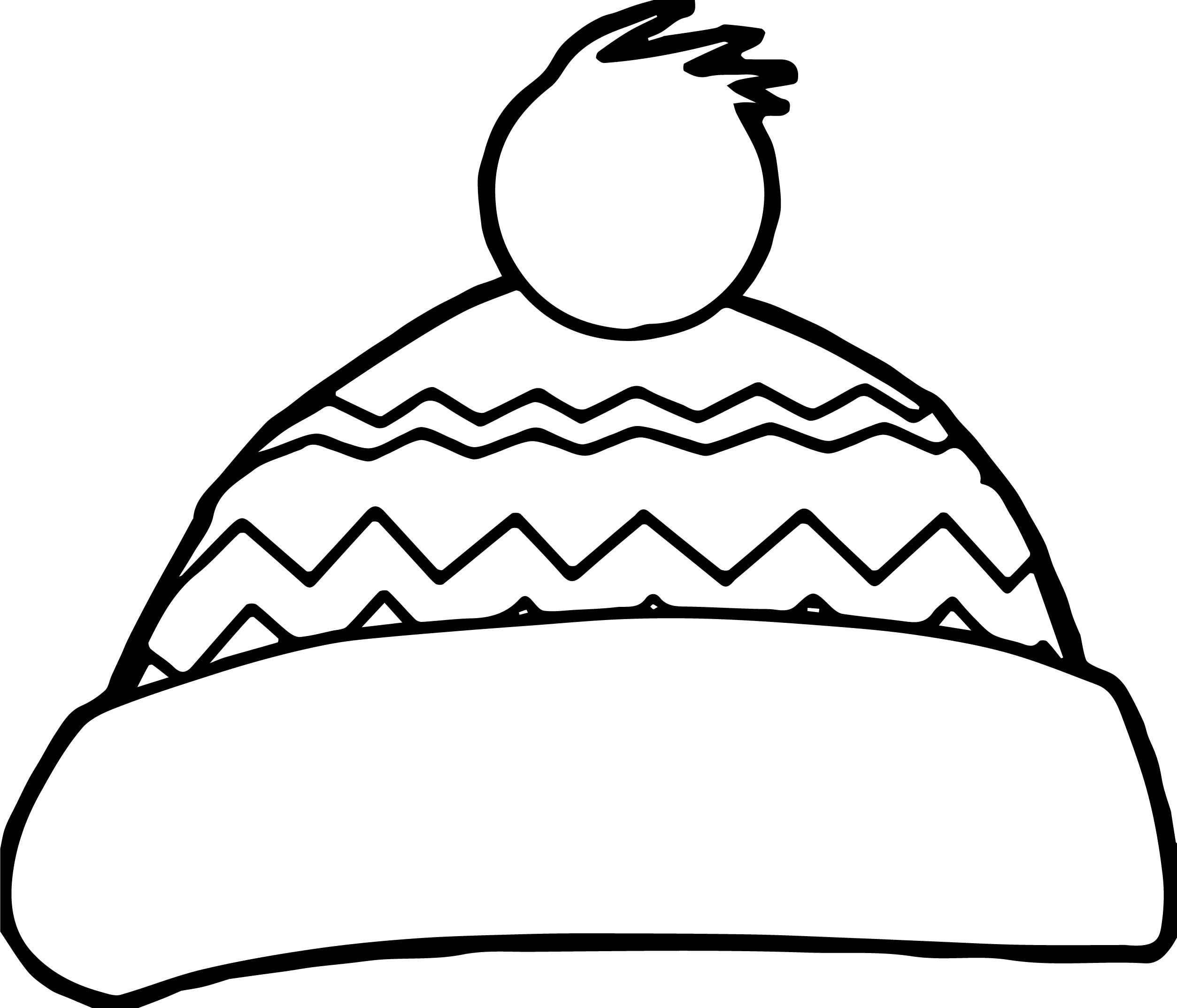 2507x2146 Simple Winter Hat Coloring Pages Sun Throughout Page Mitten