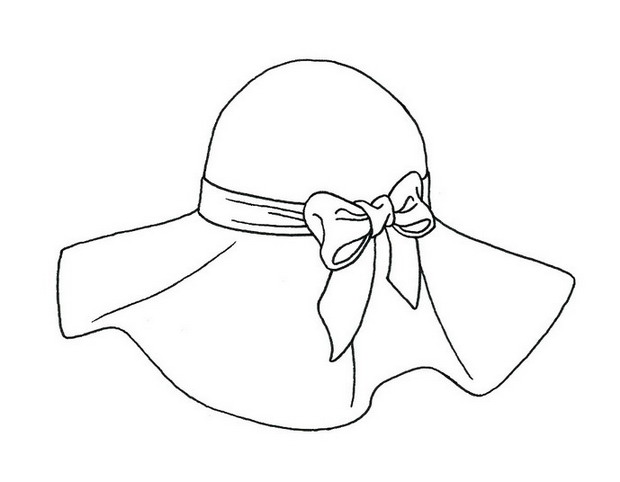 620x482 Sun Hat Coloring Page