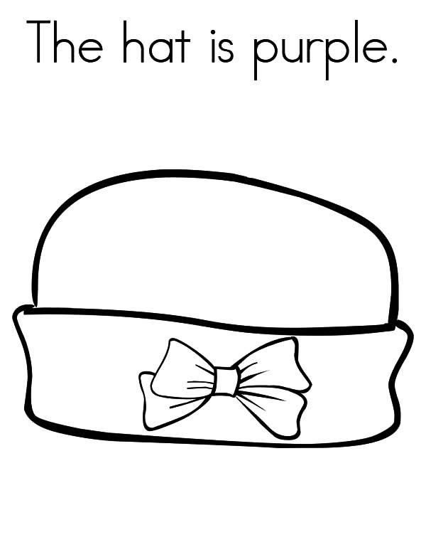600x776 The Hat Is Purple Coloring Pages Coloring Sun