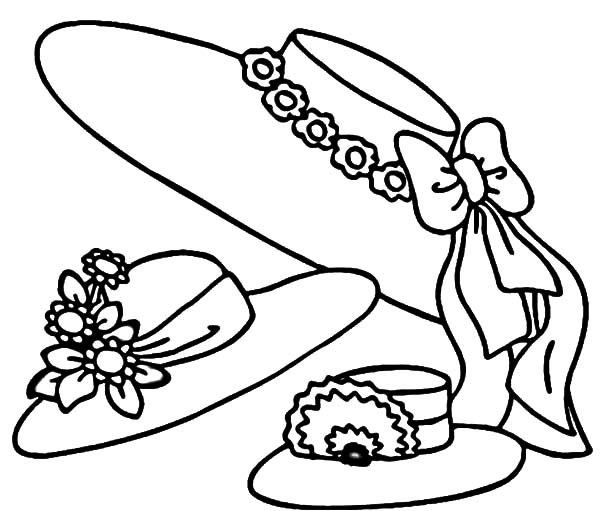 600x511 Beautiful Hat Coloring Pages Beautiful Hat Coloring Pages