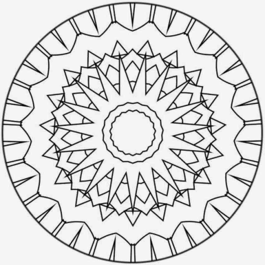Sun Mandala Coloring Pages