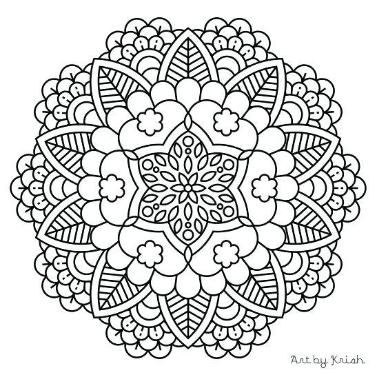 547x547 Mandala Color Summer Baseball Sun Mandala Coloring Page Mandala