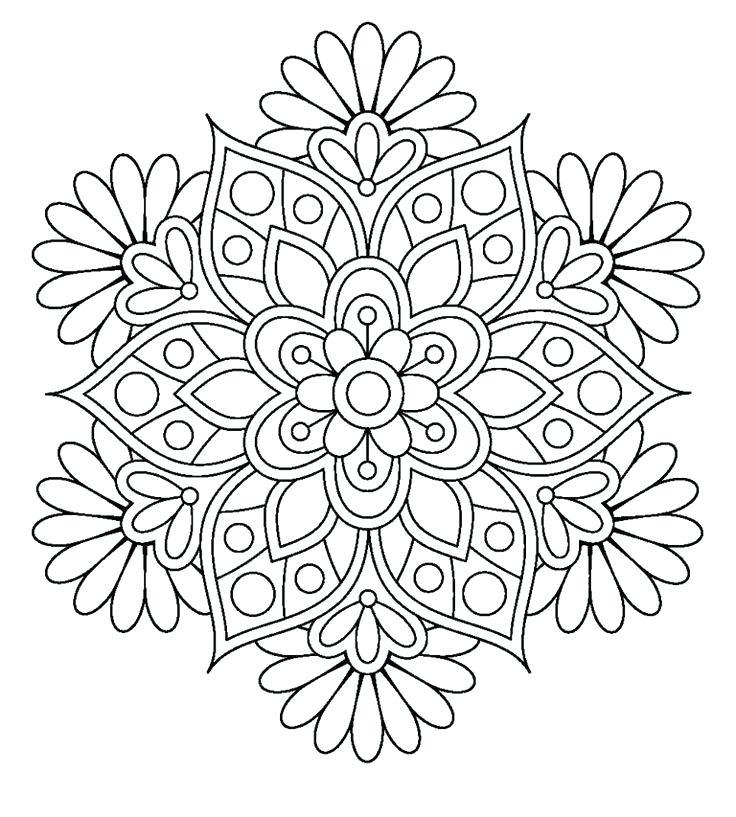 736x817 Mandala Coloring Pages A Sun Mandala Coloring Sheet Mandala