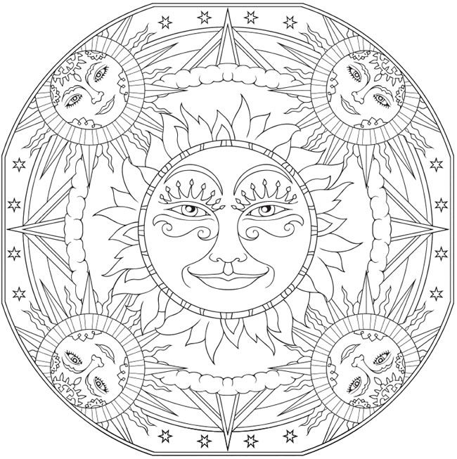 650x653 Welcome To Dover Publications Creative Haven Celestial Mandalas