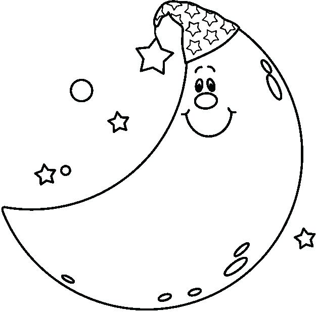 625x617 Fresh Moon And Stars Coloring Pages And Moon Coloring Page Stars