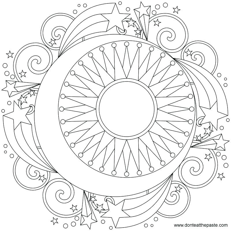 800x800 Moon And Stars Coloring Pages Printable Sun And Moon Coloring Moon
