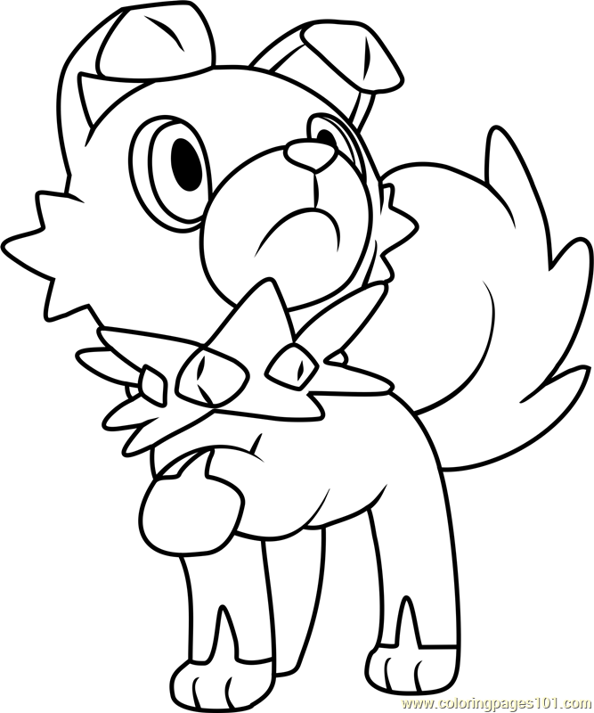667x800 Rockruff Pokemon Sun And Moon Coloring Page