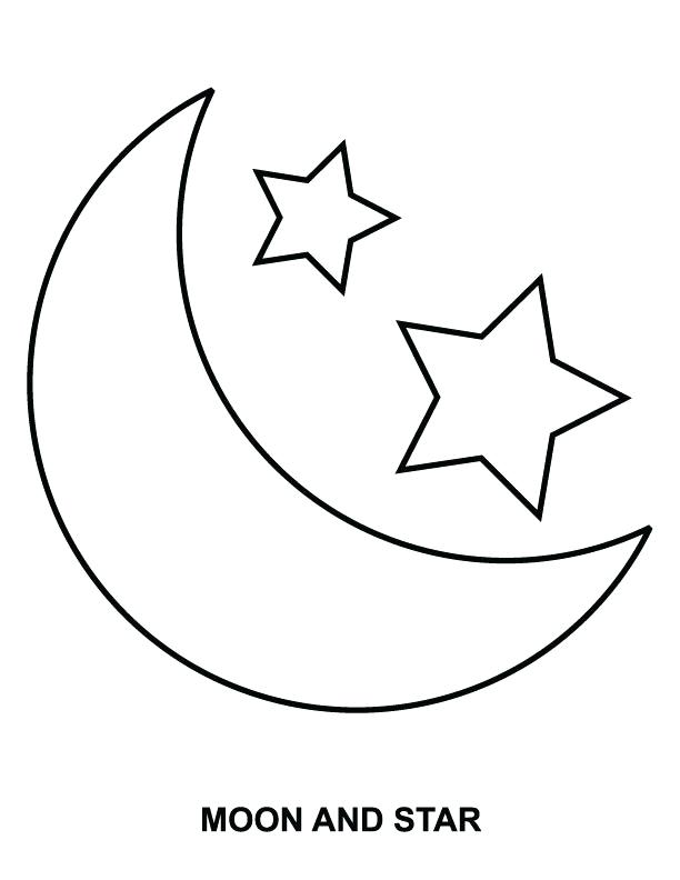 612x792 Stars Coloring Pages Sun Moon And Stars Coloring Pages Shooting