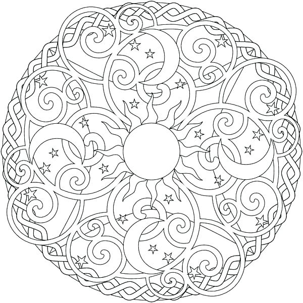 600x600 Sun And Moon Coloring Best Photos Of Moon And Stars Coloring Pages