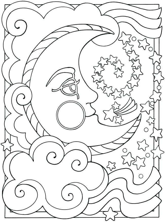 650x874 Sun And Moon Coloring Pages Also Sun Moon Coloring Page Free Sun