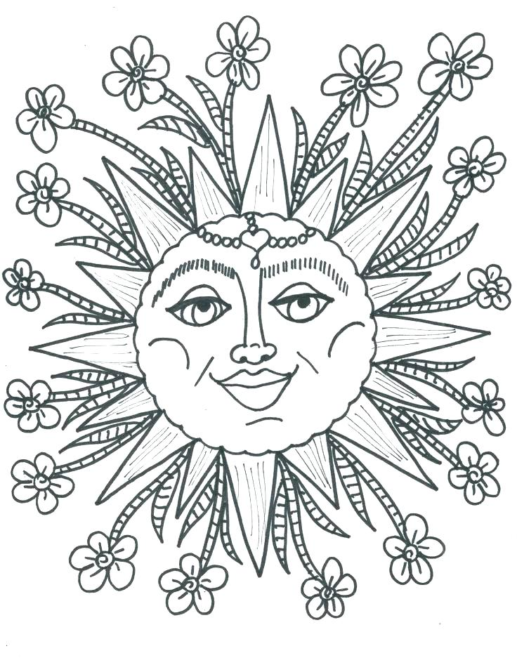 736x947 Sun Moon And Stars Coloring Pages