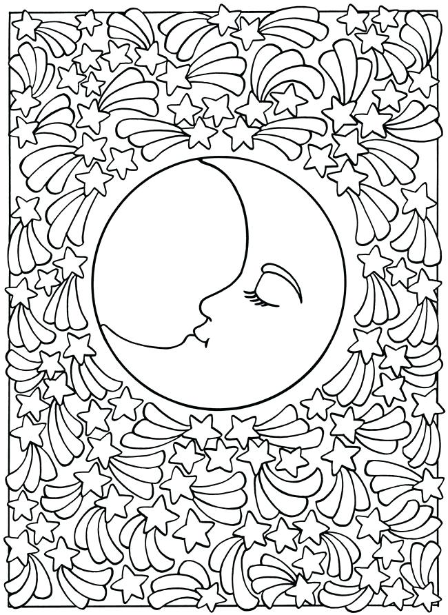 650x892 Moon Coloring Page Half Moon Coloring Pages Photos Best S Moon