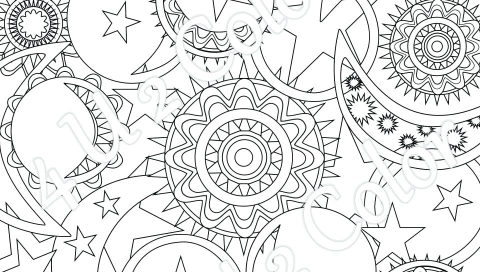 960x544 Sun And Moon Coloring Pages As Well As Egg With Stars And Moon