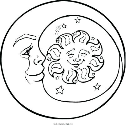 402x400 Sun And Moon Coloring Pages Sun Moon Coloring Page Sun And Moon