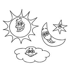 230x230 Sun Moon Coloring Pages