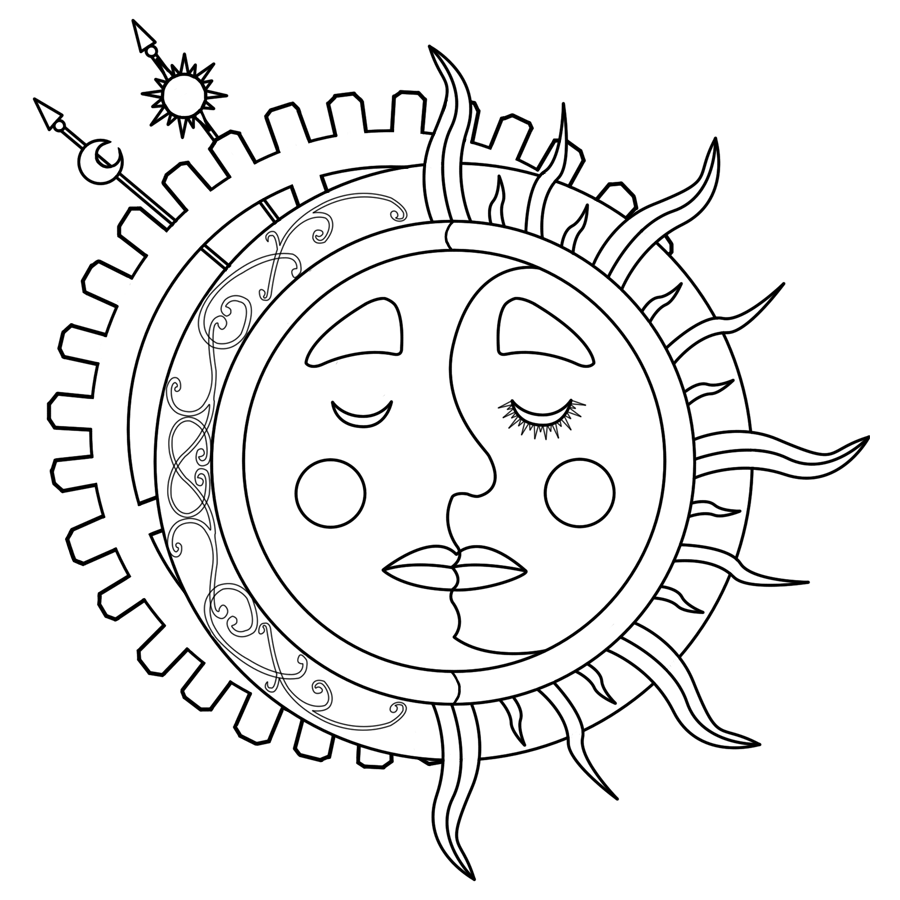 900x900 Sun And Moon Coloring Pages With Wallpaper Picture Sun And Moon