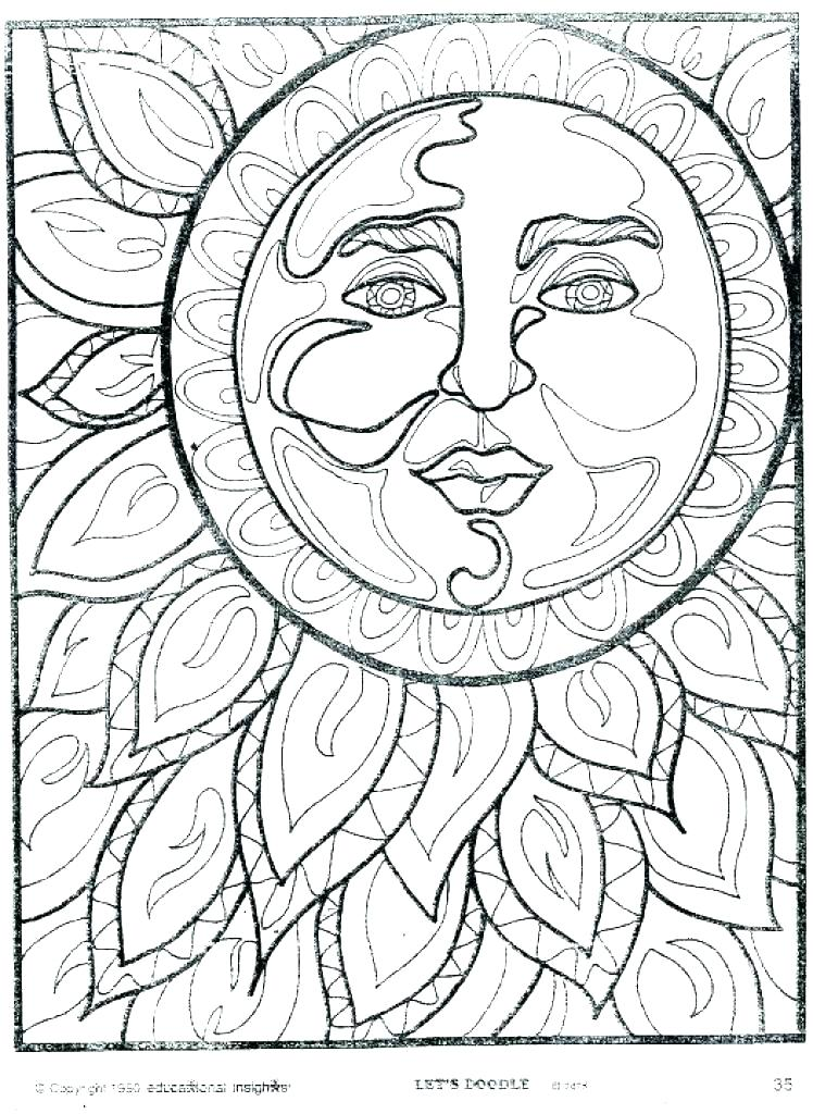 748x1024 Sun Coloring Pages
