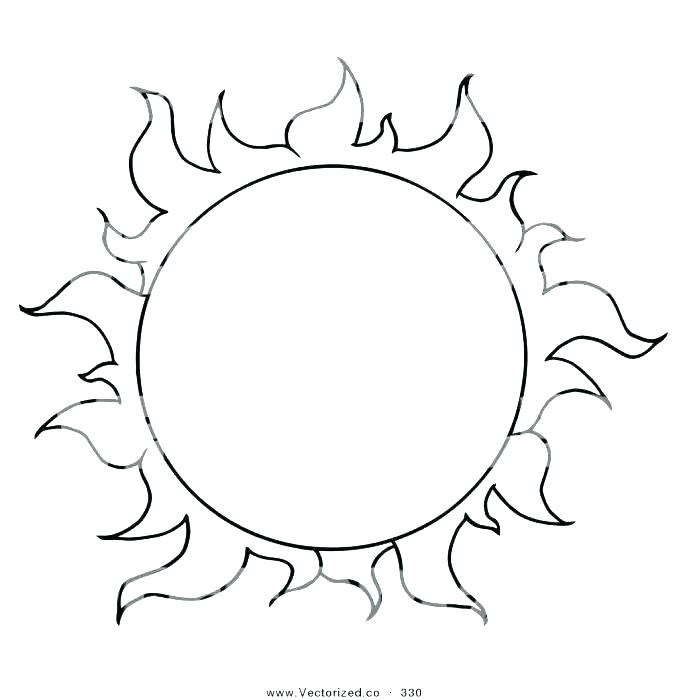 687x700 Bear Sun Coloring Page Sun Moon And Stars Colouring Pages
