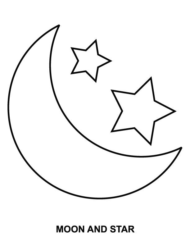 612x792 Moon And Stars Coloring Pages