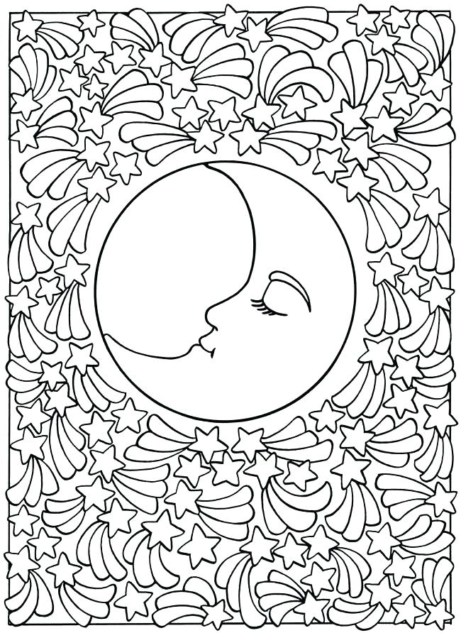 650x892 Moon And Stars Coloring Pages Sun And Moon Coloring Sheets Best
