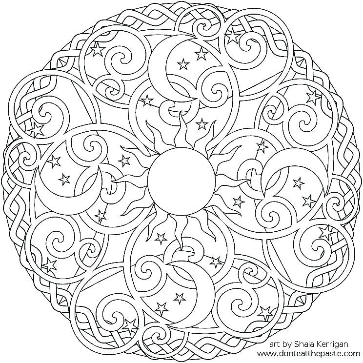 744x744 Printable Pictures Of Sun Moon Stars Kids Coloring Moon And Stars