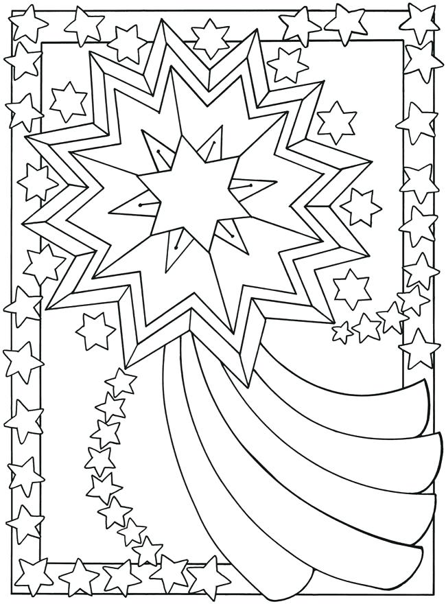 650x880 Stars Coloring Pages Sun Moon And Stars Coloring Pages Shooting
