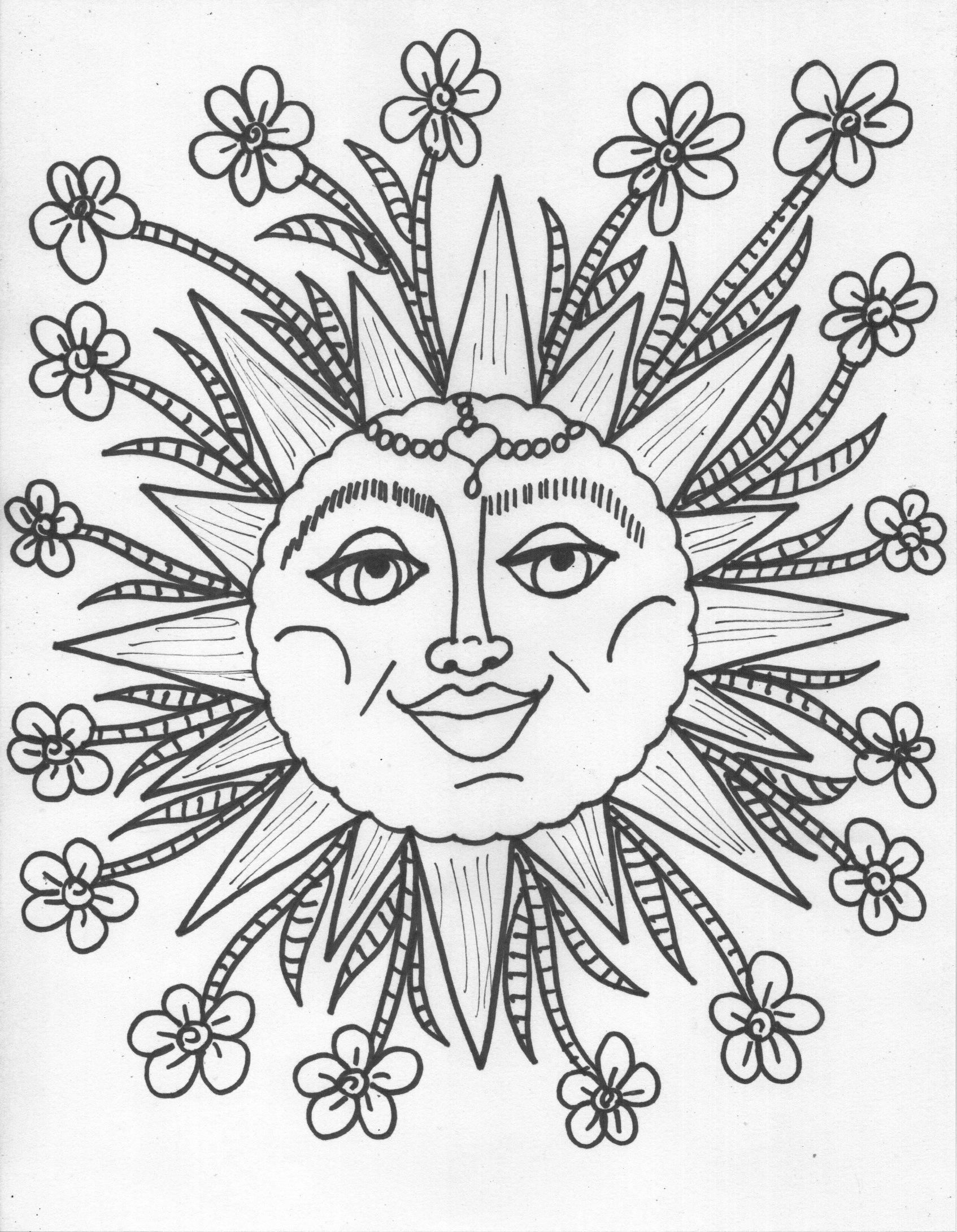 Sun Moon Stars Coloring Pages At Getdrawings Com Free For Personal