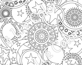 340x270 Sun And Moon Coloring Pages Luxury Sun Moon Stars Coloring Page