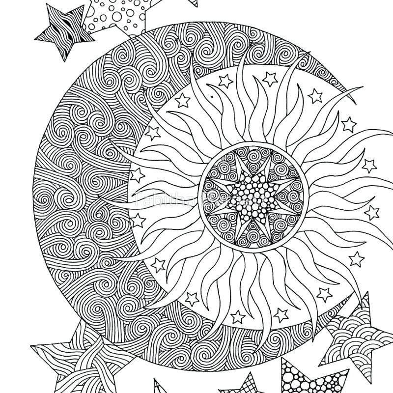800x800 Moon And Stars Coloring Pages