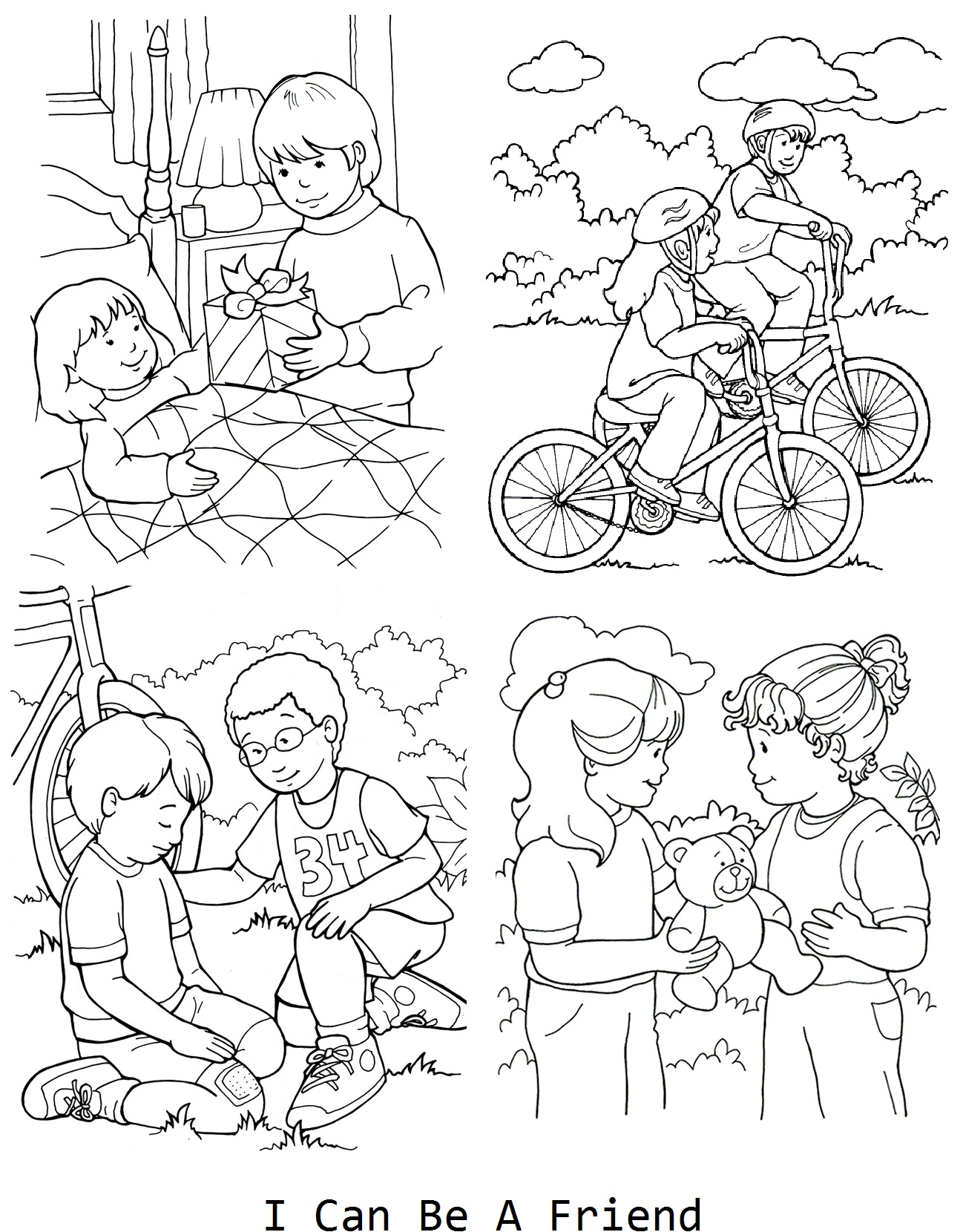 1298x1660 I Can Be A Friend Coloring Page For Lesson Lds Primary