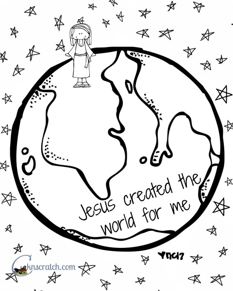 480x600 Behold Your Little Ones Lesson Jesus Christ Created The World