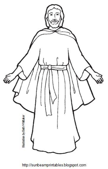 366x573 Coloring Page Of Jesus Sunbeam Printables Craft Page For Lesson