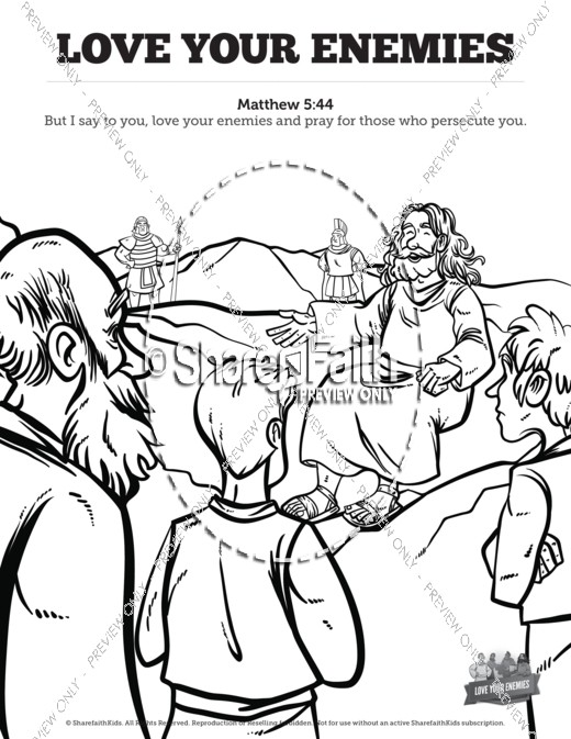 520x673 Matthew Love Your Enemies Sunday School Coloring Pages Sunday