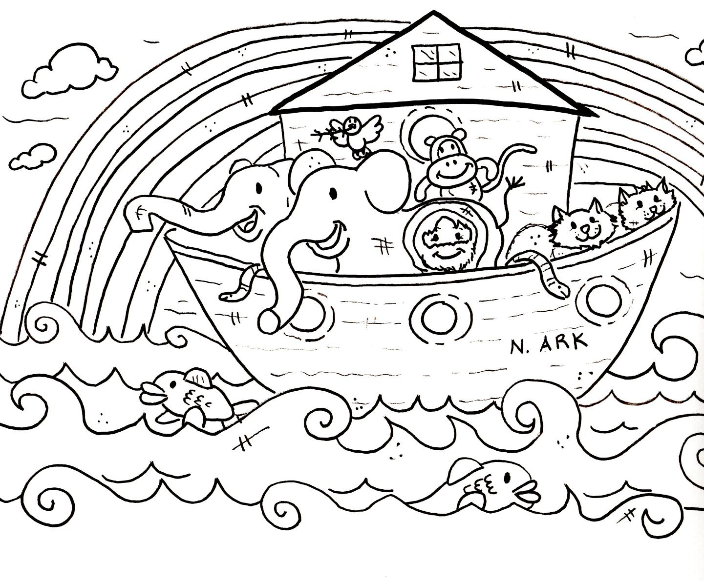 1441x1191 Noah's Ark Sunday School Coloring Pages