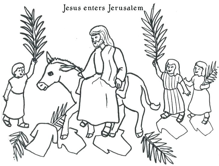 728x551 Palm Sunday Coloring Page Palm Coloring Page Bible Coloring Pages