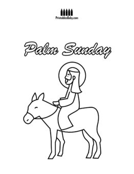 262x340 Palm Sunday Coloring Pages Archives