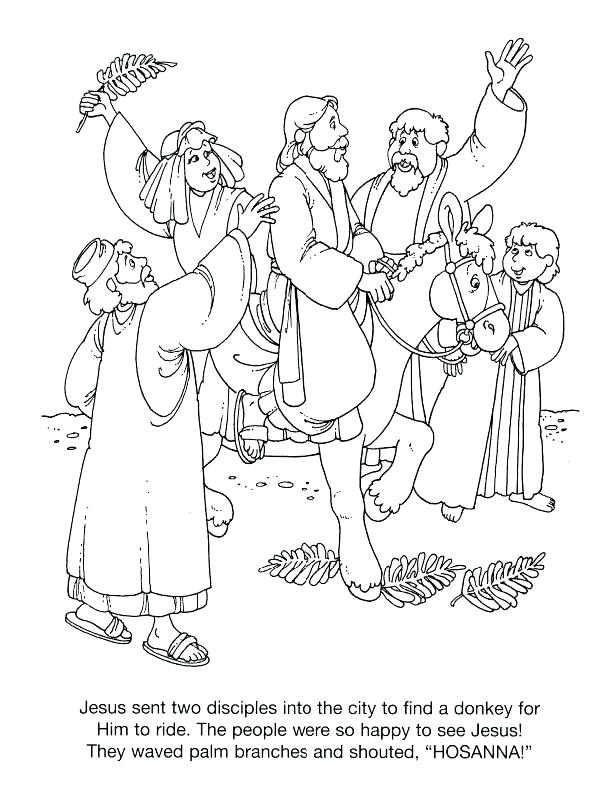 612x792 Palm Sunday Coloring Pages Arger Preschooers Christian Printable